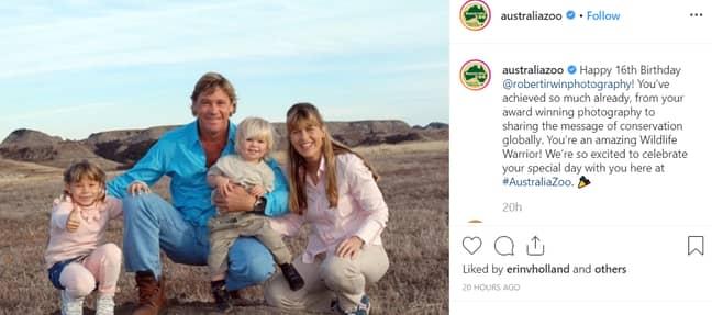 Credit: Instagram/Australia Zoo