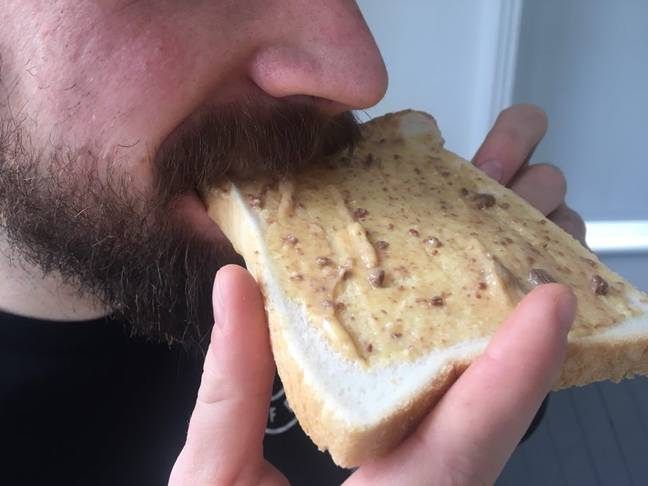It's even more appetising in close proximity to lip hair. Credit: LADbible