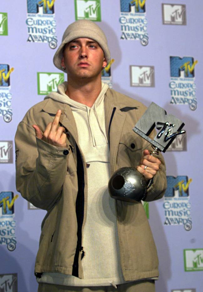 Just one of Eminem's many awards during his career Credit: PA