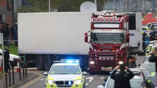 The lorry Maurice Robinson was driving. Credit: PA