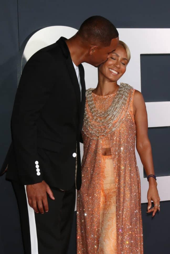 Will Smith with wife Jada Pinkett-Smith. Credit: PA