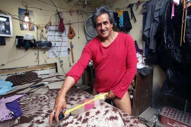 Jonah slams claims Roberto Esquivel Cabrera has a bigger penis. Credit: Barcroft