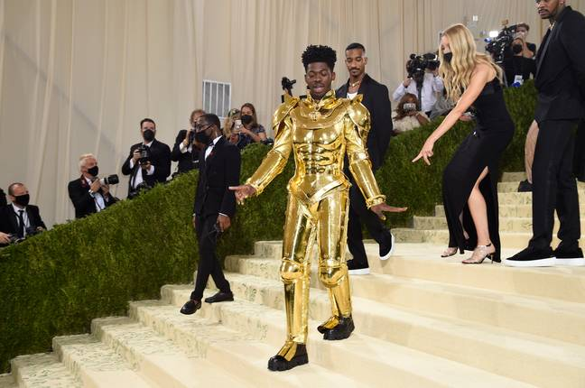 Lil Nas X outfit for the 2021 Met Gala. (Credit: PA)