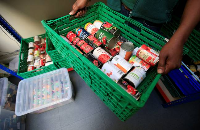 A food bank in Scotland. Credit: PA