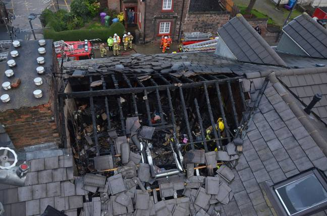 The damaged roof. Credit: Liverpool Echo