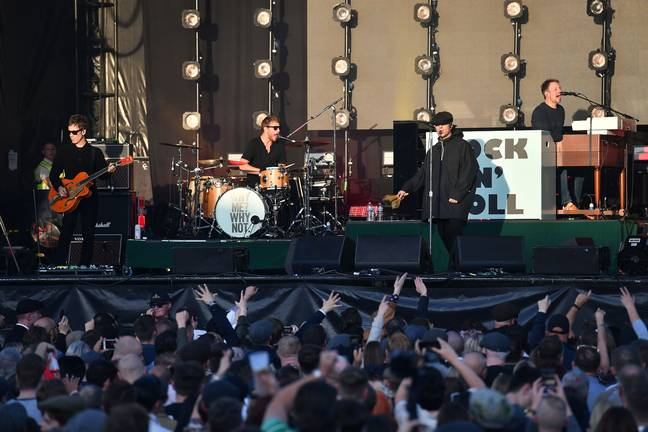 The car park went off when Gallagher performed a handful of Oasis classics. Credit: PA