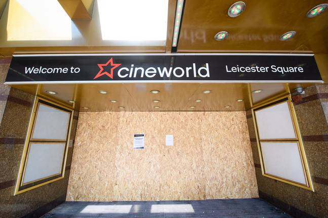 Cineworld closed its branches on 18 March. Credit: PA