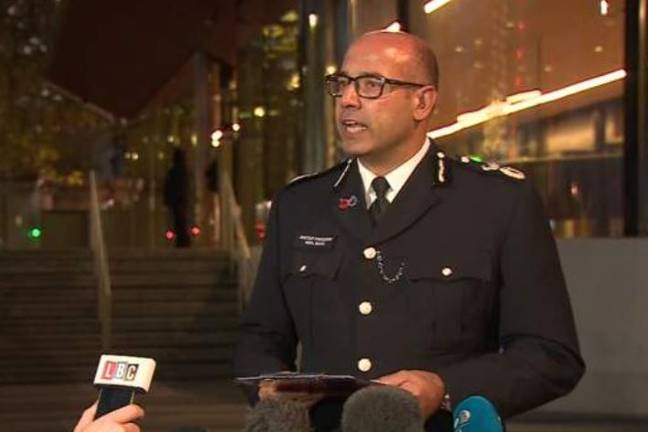 Assistant commissioner Neil Basu updated the press on the situation. Credit: BBC