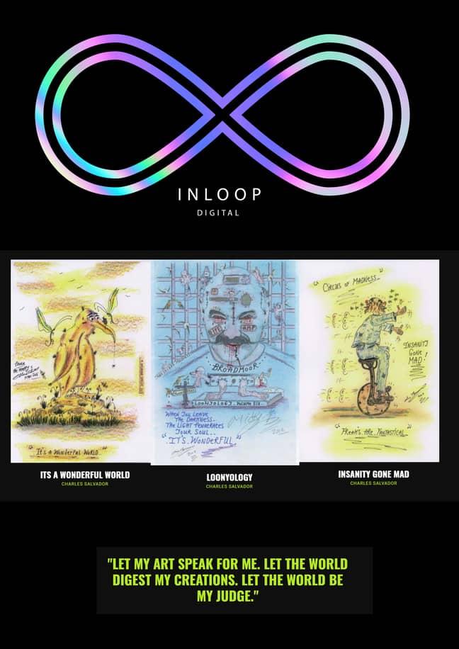Some of Charles Bronson's artworks. Credit: Inloop Digital