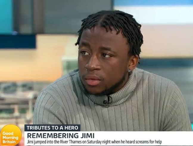 Jimi's friend Bernard Kosia on Good Morning Britain. Credit: ITV