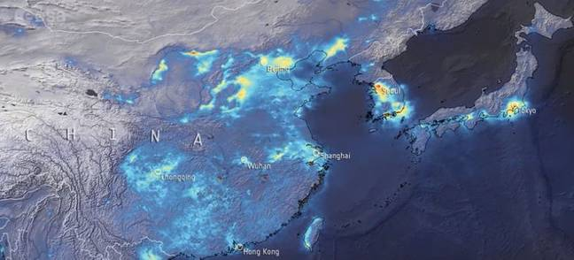 When pollution dramatically improved. Credit: ESA