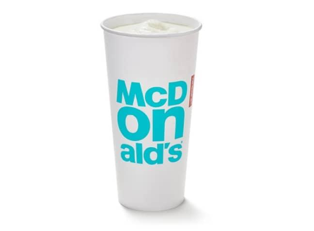 McDonald's vanilla milkshake. Credit: McDonald's