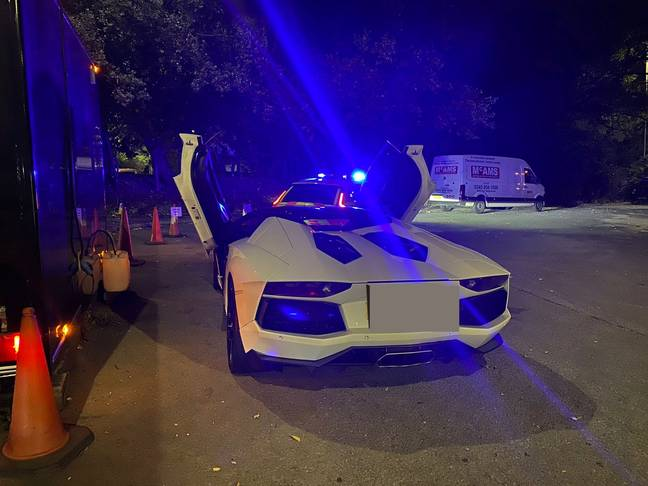 The driver said the vehicle's tax was 'too expensive'. Credit: SWNS