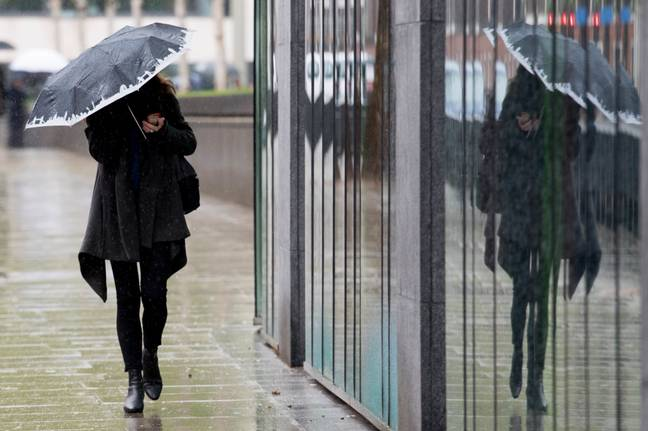 Storm Hannah has brought heavy rain and strong winds. Credit: PA