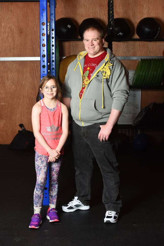 Craig is very proud of his little fitness fanatic. Credit: Caters