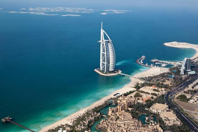 The Burj Al Arab hotel. Credit: PA