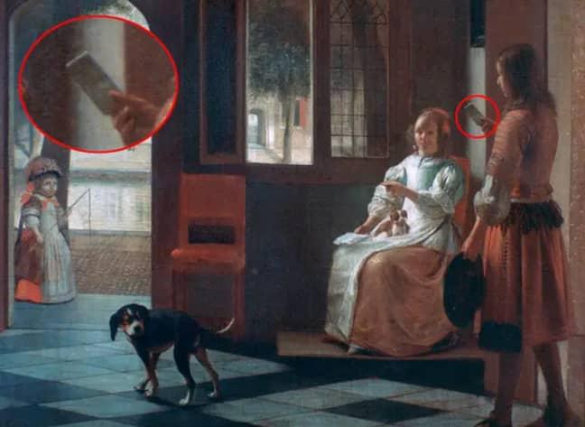 Penampakan Ponsel Genggam di Lukisan Berusia 350 Tahun, Bukti Time Travel?