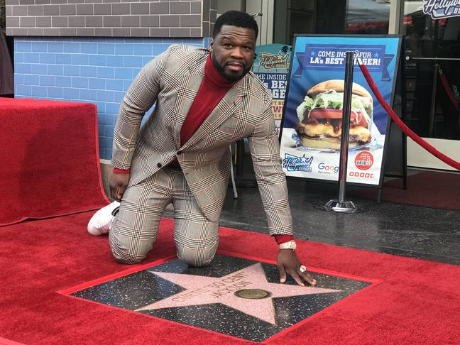 50 Cent was honoured with a Hollywood Walk Of Fame Star in February 2020 (Credit: PA)