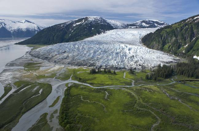 The Taku River and Glacier in 2008. Credit: PA