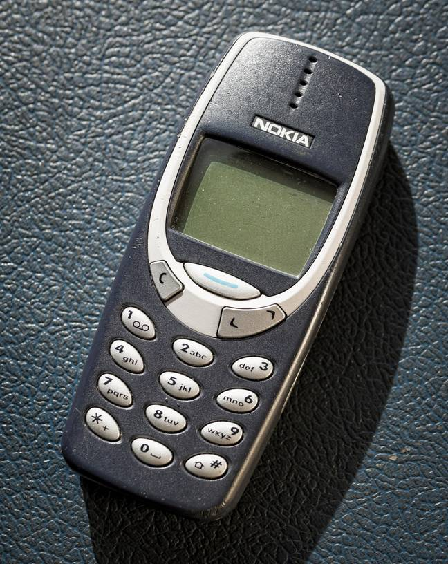 The Nokia 3310 Blue from the year 2000. Credit: Alamy