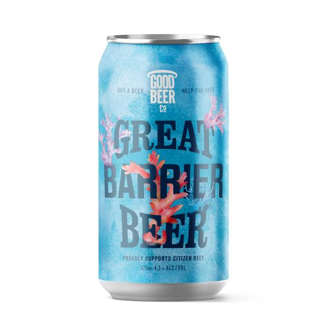 Great Barrier Beer will donate ten percent from every sale to the Australian Marine Conservation Society. Credit: Vacant Face