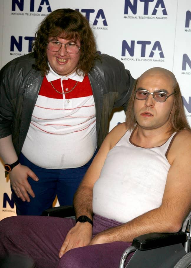 David Walliams and Matt Lucas in the press room at the 2007 National Television Awards. Credit: PA