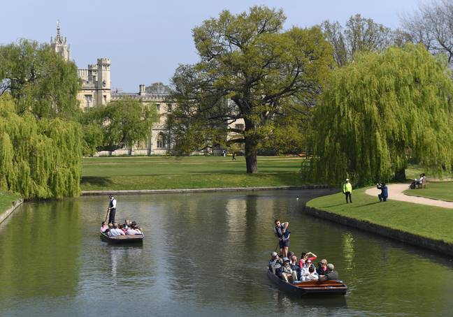 People punting in Cambridge earlier this week. Credit: PA