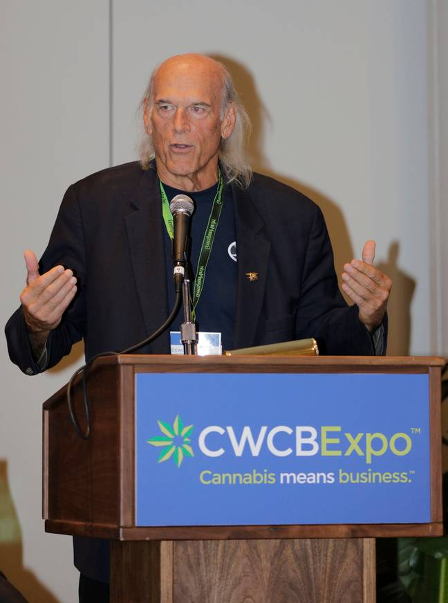 Jesse Ventura at the Cannabis World Congress & Business Expo. Credit: PA