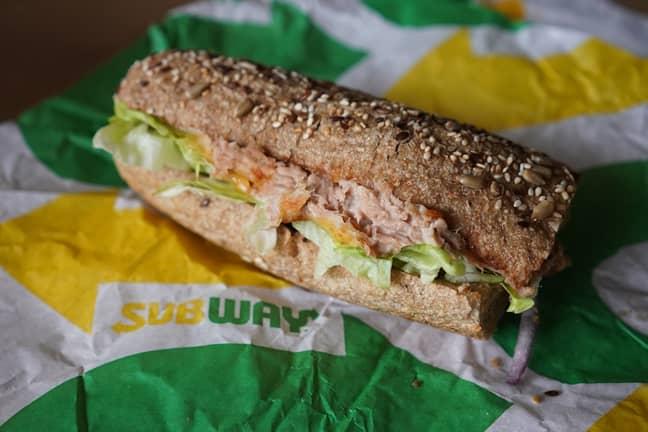 A Subway tuna sandwich. Credit: PA