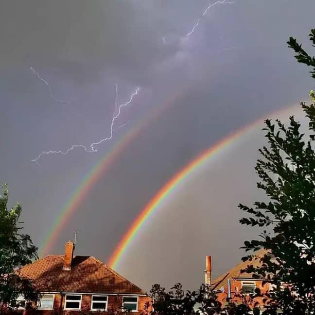 The rainbow/lightning mix. Credit: Ben Cartwright