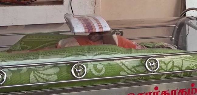 He was put in the freezer on Monday ahead of a planned funeral on Tuesday. Credit: NDTV