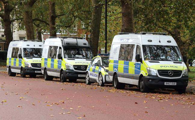 The police have reported an increase in incidents of spitting at officers since the pandemic began. Credit: PA
