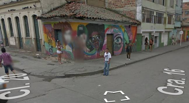 Google Maps Has Blurred Out These Girls. Credit: Google Maps