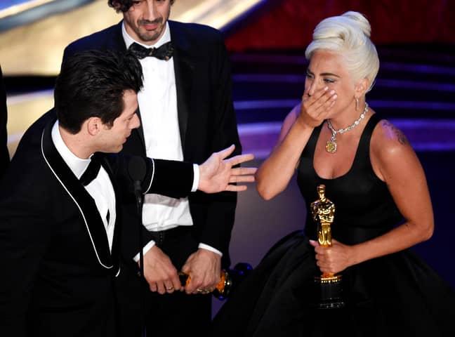 Lady Gaga at the Academy Awards on Sunday. Credit: PA