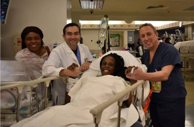 Thelma gave birth to six babies in nine minutes. Credit: The Woman's Hospital of Texas