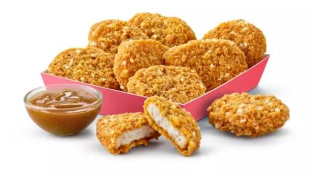 The Katsu Curry Chicken McNuggets are on sale now. Credit: McDonald's