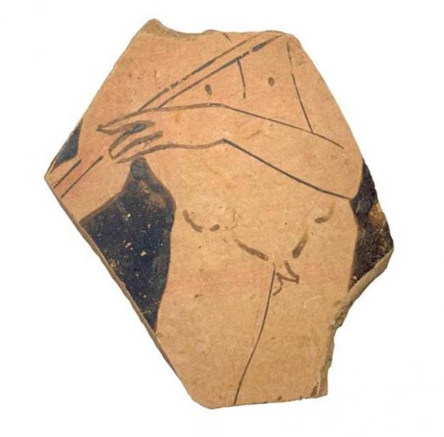 A piece of a Greek vase that was also discovered. Credit: Dubrovnik Museums
