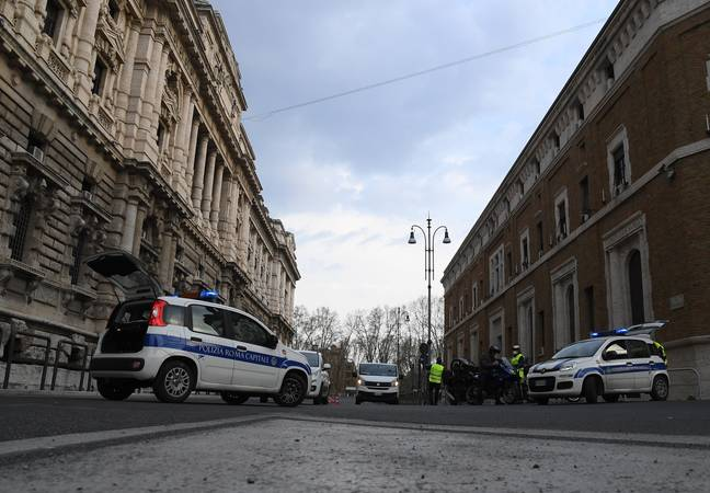 Police are on duty in Italy to make sure residents are abiding with the lockdown. Credit: PA