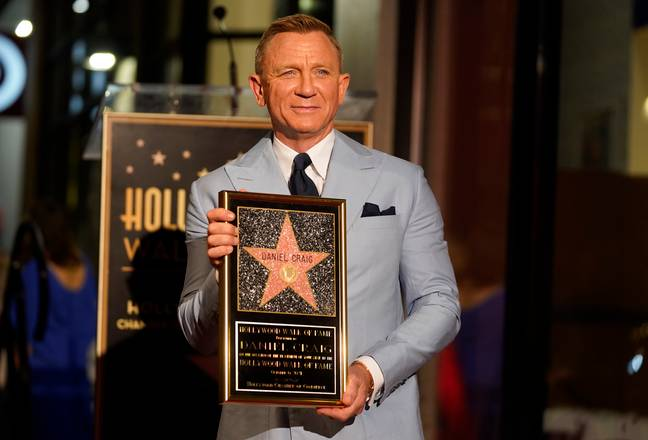 Daniel Craig was awarded a star on the Hollywood Walk of Fame following the release of his final Bond movie. (Credit: PA)
