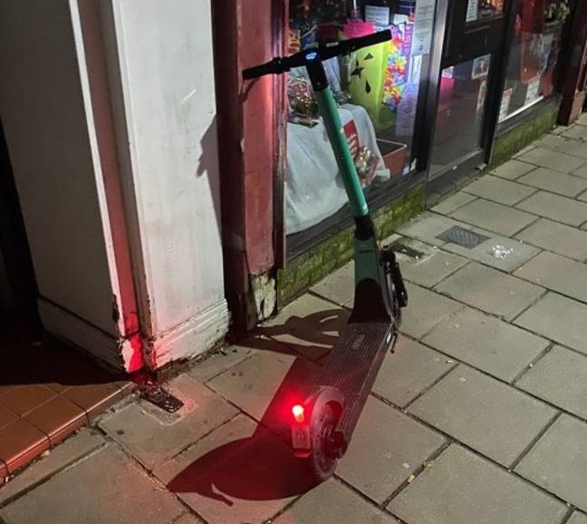 The e-scooter. Credit: Solent