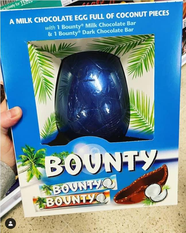 Bounty Bar Easter Egg. Credit: Instagram/NewFoodUK