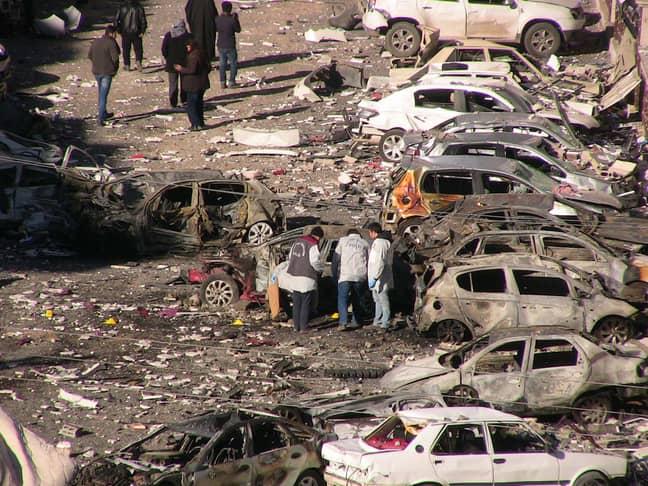 Terror attack in Sanliurfa in February last year. Credit: PA