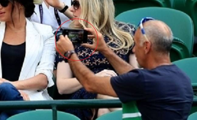 You can see the selfie that Mr Hasanov took. Credit: PA