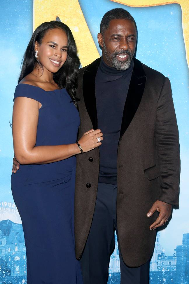 Idris Elba with wife Sabrina Dhowre before they both contracted coronavirus. Credit: PA