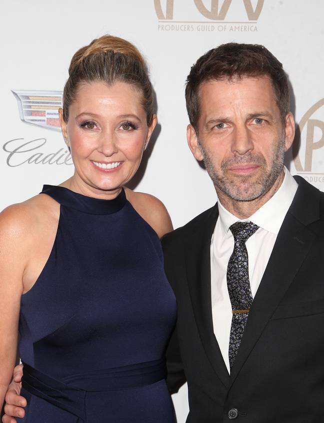 Deborah and Zack Snyder. Credit: PA