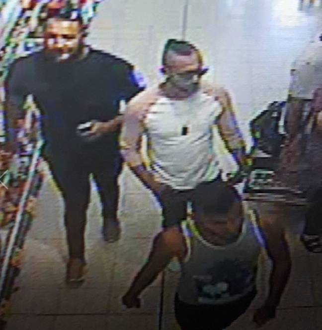 CCTV issued by police after the 'attack'. Credit: SWNS/West Mercia Police