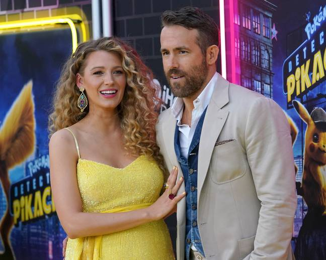 Reynolds with wife Blake Lively in 2019. Credit: PA