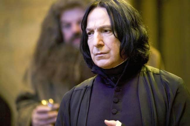 Alan Rickman played Severus Snape in Harry Potter. Credit: Warner Bros