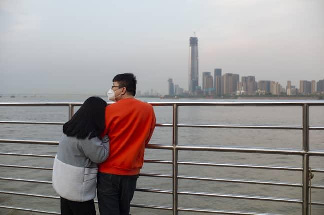 Wuhan in lockdown in April. Credit: PA