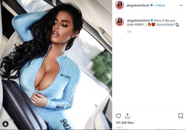 Abigail makes £6,300 per Instagram post. Credit: Instagram/Abigail Ratchford